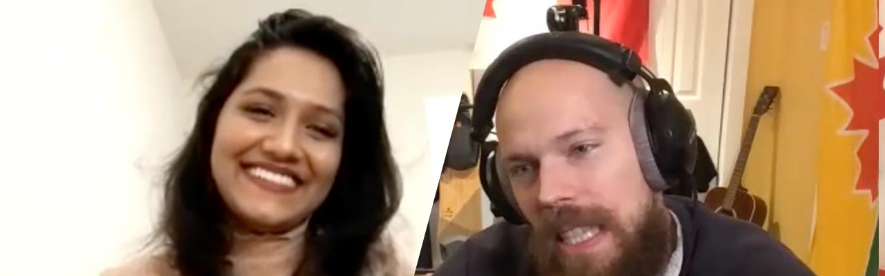Trupti V Acharya guest on Thunder Bay podcast thamichaelated show